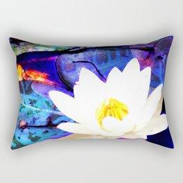 Electrifying Lotus Rectangular Pillow