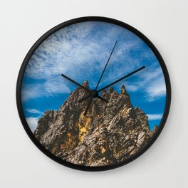 View Hiking up Iztaccihutal Volcano, Mexico City Wall Clock