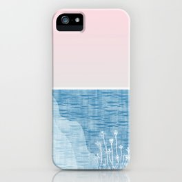 Pastel Sea Landscape Design iPhone Case