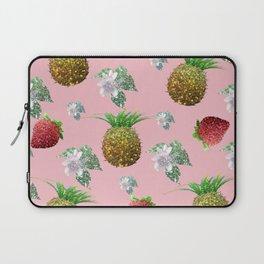 Pineapples, strawberries and flowers Laptop Sleeve