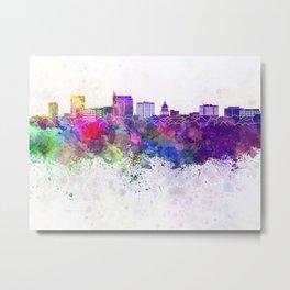 Boise skyline in watercolor background Metal Print