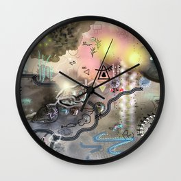 New worlds Trail Map: Planet Cosmic Cloud Frequency 528hz Wall Clock