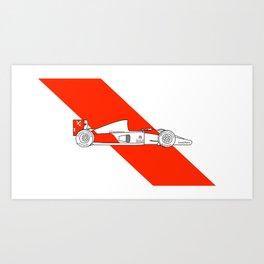 McLaren MP4/6 - Trailing Liveries Art Print