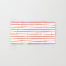 Pink Drawn Stripes Hand & Bath Towel