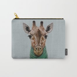 the giraffe in jacket. Carry-All Pouch