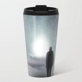 Old Man Walking Towards Heaven Travel Mug