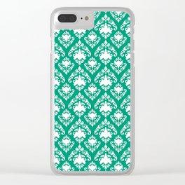 Emerald Damask Clear iPhone Case