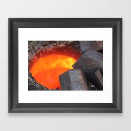 Hot Copper Framed Art Print