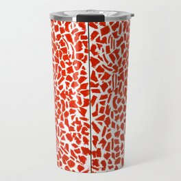 African American Masterpiece Alma Thomas, Red Azaleas Singing and Dancing Rock and Roll Music Travel Mug