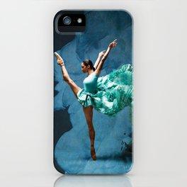 -O1- Blue Ballet Dancer Deep Feelings. iPhone Case