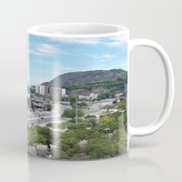rio de janeiro Mugs featuring Rio de Janeiro Landscape by Fernando Macedo