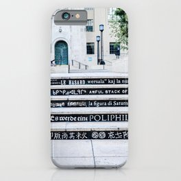 Steps of Gods (black) iPhone Case