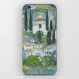 Gustav Klimt - Church in Cassone iPhone Skin