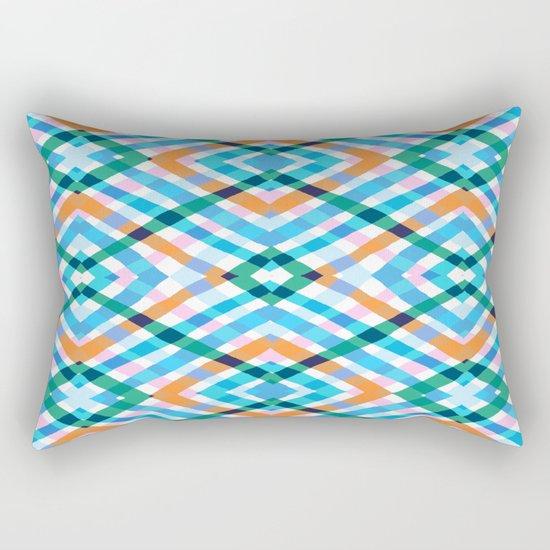 The rustic link based on tenun ikat Rectangular Pillow