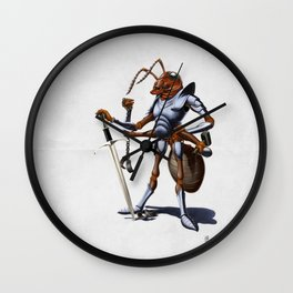 Soldiering On (wordless) Wall Clock