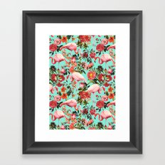 Floral and Flemingo IV Pattern Framed Art Print
