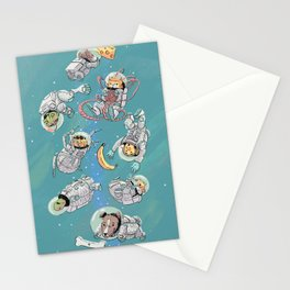 Space Animals Stationery Cards