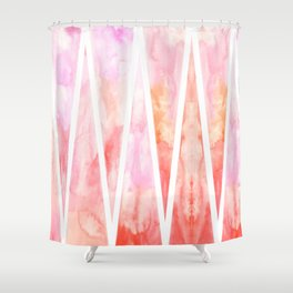 Flaming Triangles Shower Curtain