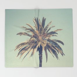 Retro palm tree Throw Blanket