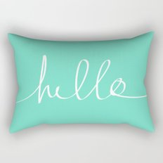 Hello x Mint Rectangular Pillow