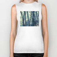 woodland Biker Tanks featuring Woodland Holiday  by Laura Ruth