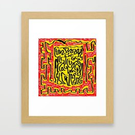 Laberinto red yellow Framed Art Print
