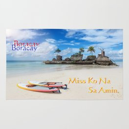Boracay,Philippines,Paradise,Tropical Island in the Pacific Ocean Rug