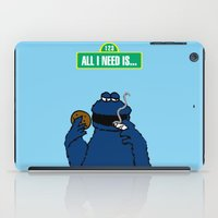 cookie monster iPad Cases featuring Cookie Monster by M.REYES
