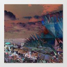 Beach Day - Umbrellas - Ocean Canvas Print