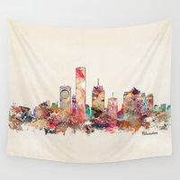 wisconsin Wall Tapestries featuring milwaukee wisconsin  by bri.buckley