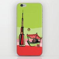 wiz khalifa iPhone & iPod Skins featuring Abra by the Burj Khalifa by Dubai Doodles