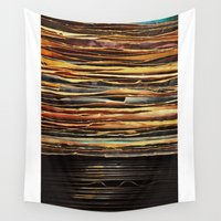 records Wall Tapestries featuring Sunrise Records by Margaux Thibeault