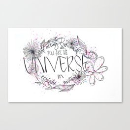 Universe in ecstatic motion Canvas Print