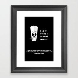 Grim Fandango - Manny Calavera Framed Art Print