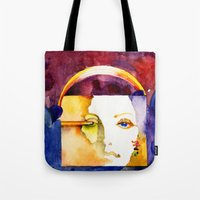 madonna Tote Bags featuring Lady Madonna by Ecsentrik