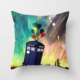 Tardis Dr. WHO Throw Pillow