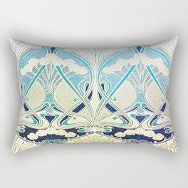 silver art nouveau Rectangular Pillow