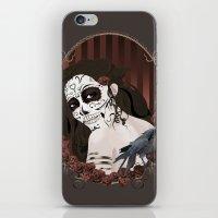dia de los muertos iPhone & iPod Skins featuring Dia de los Muertos by Kretly
