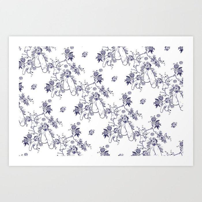 Penis Pattern Kunstdrucke
