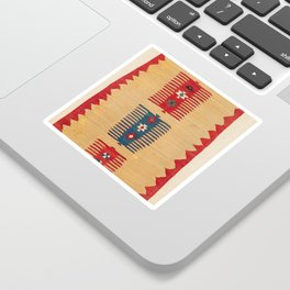 Parmakli Kütahya West Anatolian Kilim Print Sticker