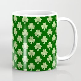 Shamrock Clover Polka dots St. Patrick's Day green pattern Coffee Mug