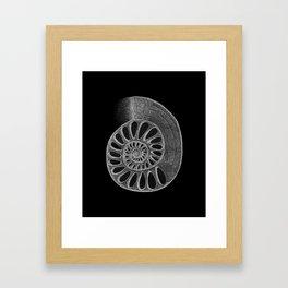 gyre black Framed Art Print