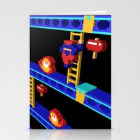 donkey kong Stationery Cards featuring Inside Donkey Kong stage 4 by Metin Seven