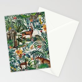 Floral and Animals Pattern III Stationery Cards