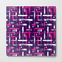 Colorful bright violet pink brush Metal Print