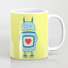 Cute Clumsy Robot With Heart Coffee Mug
