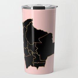 Bolivia map Travel Mug