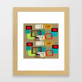 Mid-Century Modern Inspired Abstract Framed Art Print