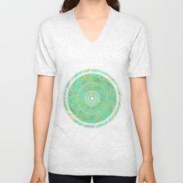 Magnetically Woven Mandala #1 Astronomy Print Science Print Wall Art Unisex V-Neck