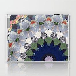 Patchwork Whimsy -- Vintage Block Quilt Mandala Kaleid0scope Laptop & iPad Skin